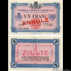 1 franc C.C.M. - Série B24 annulé