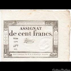 Assignat de 100 francs - 18 nivôse AN II...