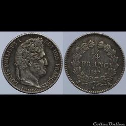 Louis Philippe I - 1/4 franc - 1837 A