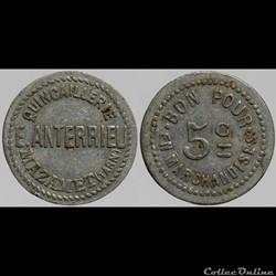 81 - Mazamet - E. Anterrieu - 5 centimes