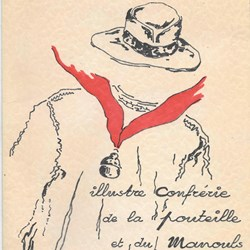 Menu Confrérie de la Pouteille - 1974