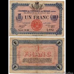 1 franc C.C.M. - Série D29