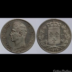 Charles X - 5 francs - 1828 Paris