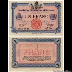 1 franc C.C.M. - Série D34