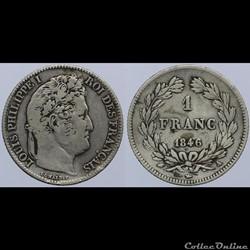 Louis Philippe I - 1 franc - 1846 A