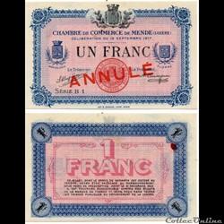 1 franc C.C.M. - Série B1 annulé