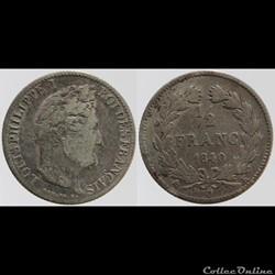 Louis Philippe I - 1/2 franc - 1840 K