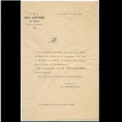 Distribution des prix, 1896, programme