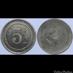 Jeton de 5 centimes