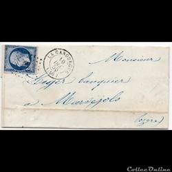 1855 - Cachet type 15 plus P.C. 602