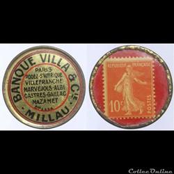 12 - Banque Villa & Cie - 10 centimes