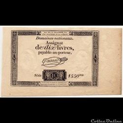 Assignat - 10 livres - 16 décembre 1791