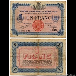 1 franc C.C.M. - Série B12