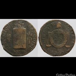 Convention - 2 sols aux balances - 1793 ...