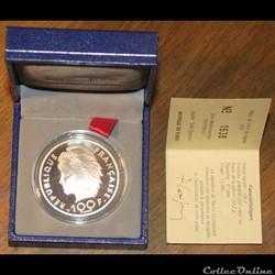 1993 - 15 écus/100 franc argent B.E.