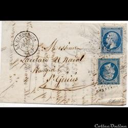 1868 - Cachet type 15 + G.C. 721