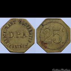 81 - Castres - 25 centimes