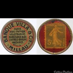 12 - Banque Villa & Cie - 5 centimes