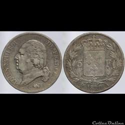Louis XVIII - 5 francs - 1820 Paris