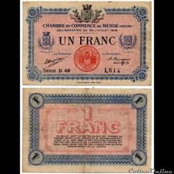 1 franc C.C.M. - Série D49