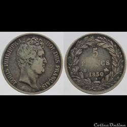 Louis Philippe I - 5 francs - 1830 B
