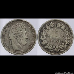Louis Philippe I - 5 francs - 1831 T