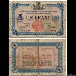 1 franc C.C.M. - Série B11
