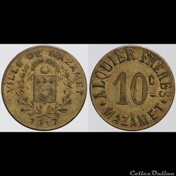 81 - Mazamet - 5 centimes