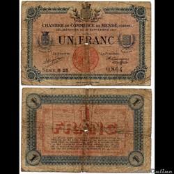 1 franc C.C.M. - Série B25