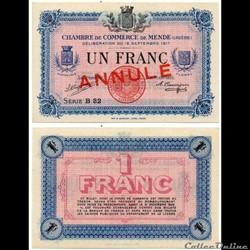 1 franc C.C.M. - Série B32 annulé