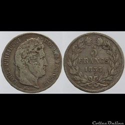 Louis Philippe I - 5 francs - 1835 Toulo...