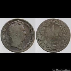 Louis Philippe I - 1 franc - 1831 B
