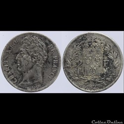 Charles X - 2 francs - 1828 Toulouse