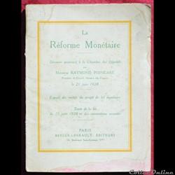 1928 - La Réforme monétaire - R. Poincar...