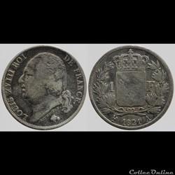 Louis XVIII - 1 franc - 1821 Paris