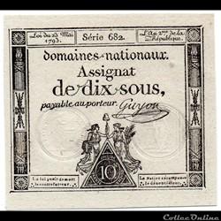 Assignat de 10 sous - 23 mai 1793