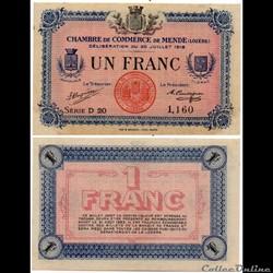 1 franc C.C.M. - Série D20