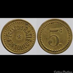 11 - Montolieu - F. Ratie - 5 centimes