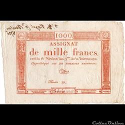 Assignat de1000 francs - 18 nivôse AN II...