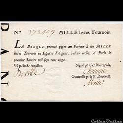 Banque Royale - 1000 livres tournois
