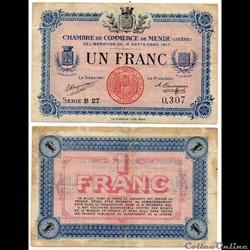 1 franc C.C.M. - Série B27