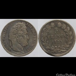 Louis Philippe I - 5 francs - 1835 Marse...
