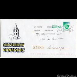 2015 - Enveloppe pré-timbrée, Banassac