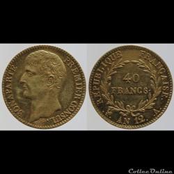 Consulat - 40 francs - AN 12, Paris