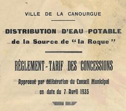 Réglement - Source la Roque