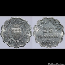 11 - Narbonne - 25 centimes