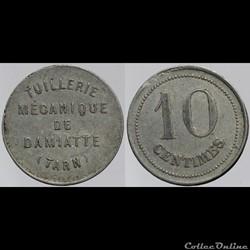 81 - Damiatte - 10 centimes