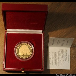 1991 - 70 écus/500 franc or B.E.