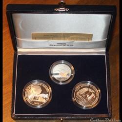 1992 - Coffret Terres Australes argent B.E.