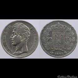 Charles X - 2 francs - 1828 Bordeaux